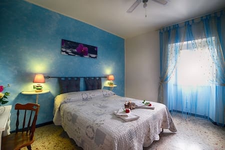 Camera matrimoniale azzurra - Rosara - Rumah