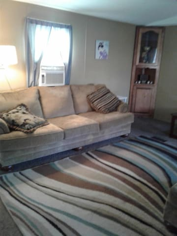 Comfy Couch in Wooded Suburb