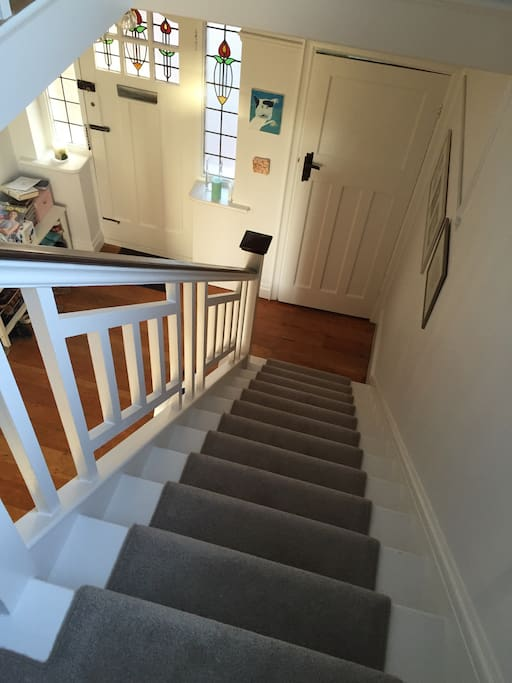 Stairs and entrance hallway