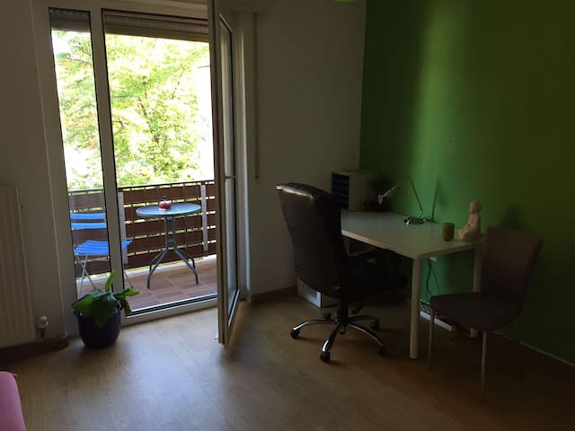 Calm large room+ balcony in KA-City Weststadt - Karlsruhe - Appartement