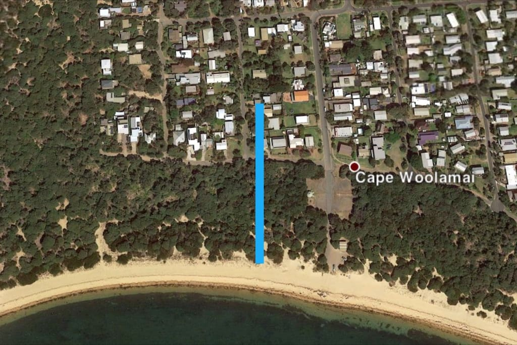 Just a short 100 metre walk to a quiet beach; perfect for sunbaking, swimming, walking and has access to the Cape Woolamai walk