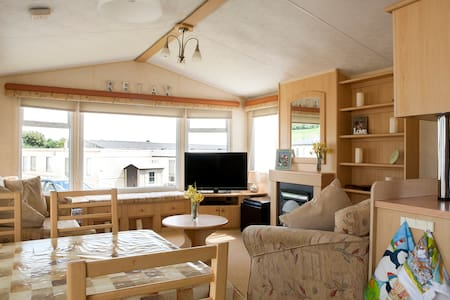 Seaside Static caravan at Ladram Bay holiday Park. - Otterton