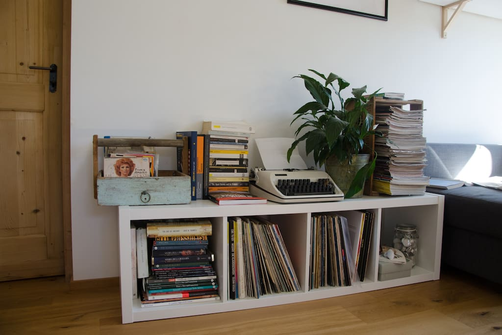 Some of the books and records you can choose from!