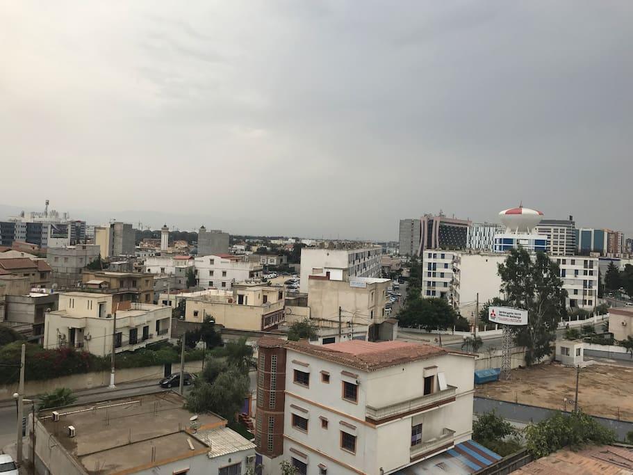 Vue dégagée sur Dar El Beida