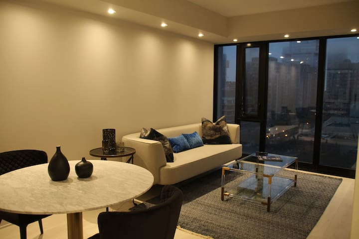 Spacious open concept with a great view of Yorkville.