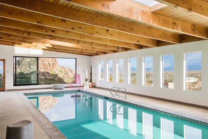 Palm & Piedra - Hot tub with amazing desert views