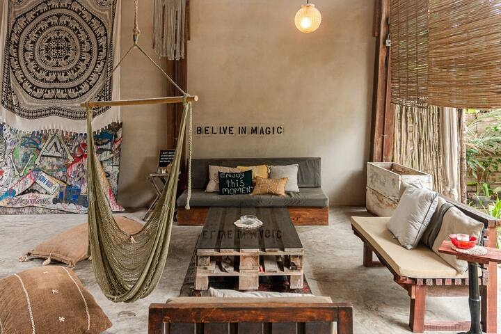 Jungle studio ❦ Tulum Eco-Chic With Beach Access ❦