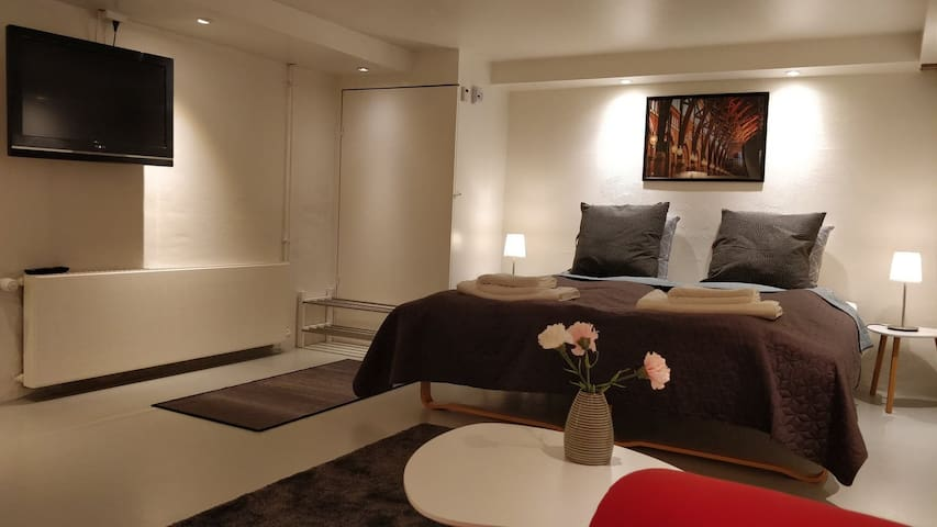 Private room/bathroom and private entrance/parking