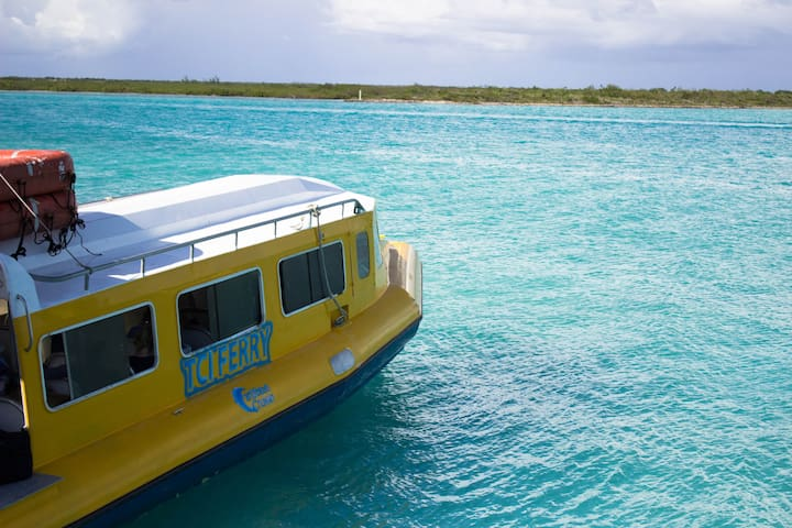 A 30-min ride on the Caribbean Cruisin ferry gets you to North Caicos from Providenciales. Find the ferry schedule on the Caribbean Cruisin TCI website.