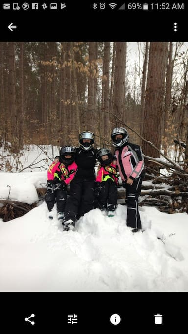 snowmobile trails are right here!!!