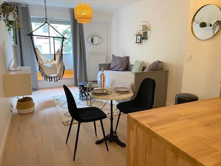 Paris - Studio rue des Cottages - bail mobilité