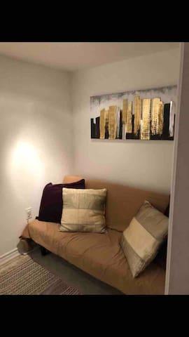 Cosy comfortable basement apartment.