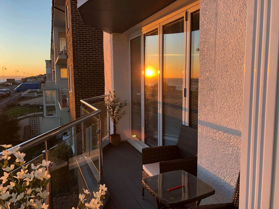 spectacular sunsets to enjoy on the balcony