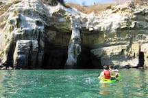 Kayaking tours & rentals near at the La Jolla caves.