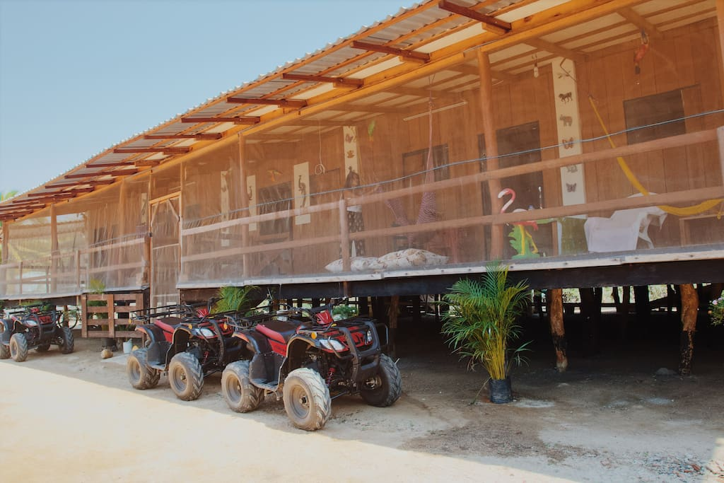 ATV's available at a small charge for our guests Cuatrimotos disponibles para los huespedes