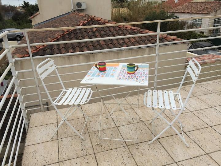 Joli studio terrasse Trinquetaille