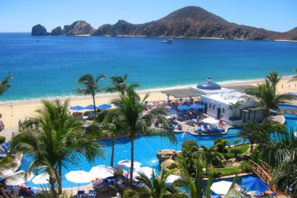 This is the View from your room! Right on Medano beach and you can see the Arch!