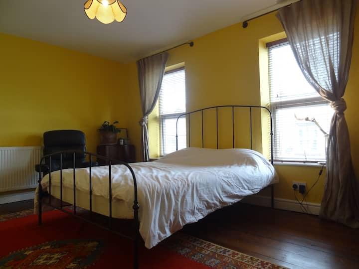 Master bedroom in Victorian terraced home