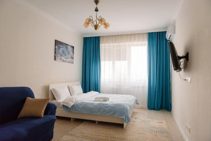 Светлая, чистая, уютная 1ком квартира в ЖК АсылТау