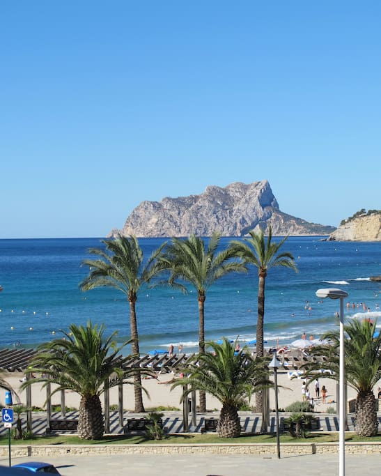 View over the sea and Calpe Rock