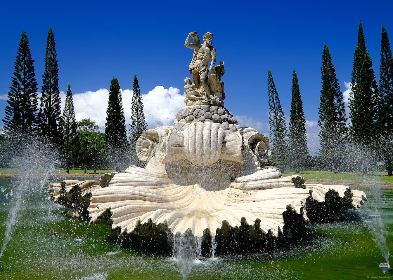 Water,Art,Sculpture,Statue,Field