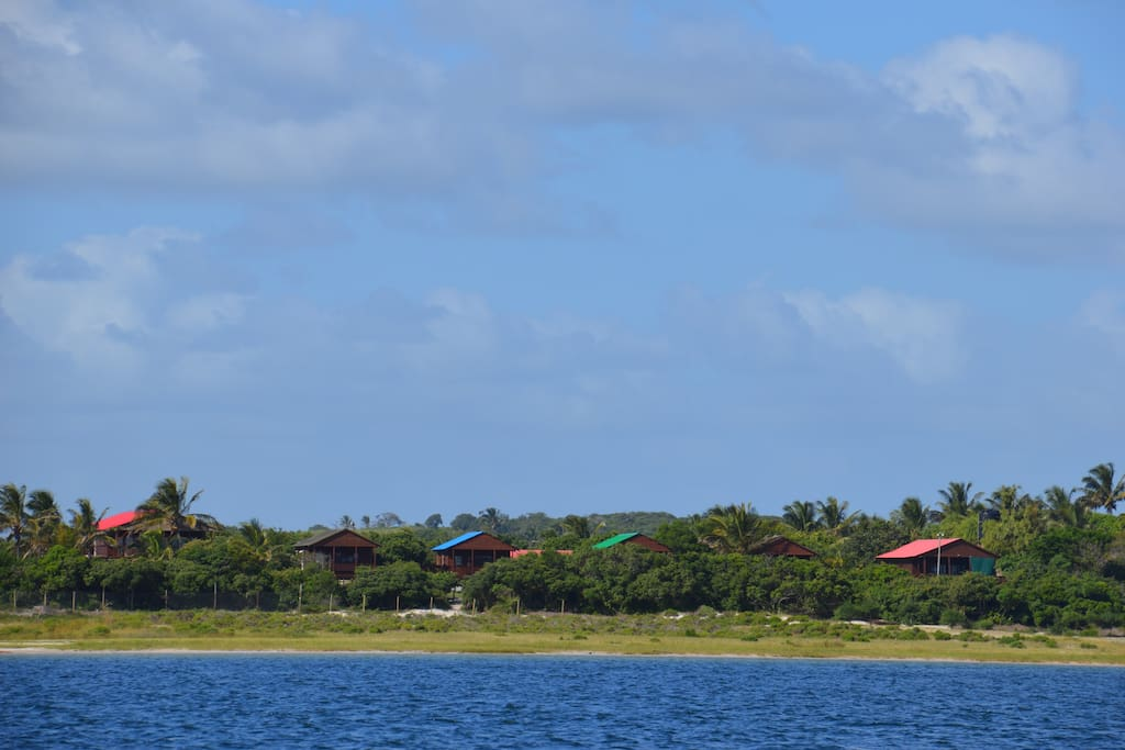 View from the Lagoon towards the Resort.