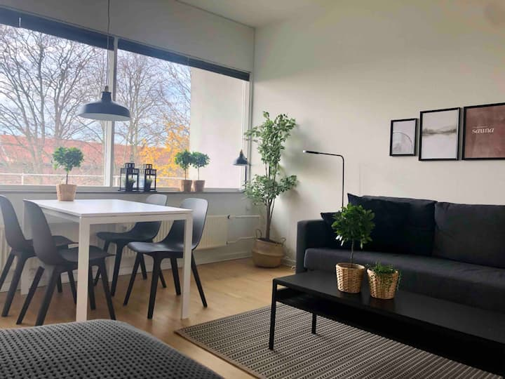 1 room apt, beds for 4,10 km from centr of cph,h30