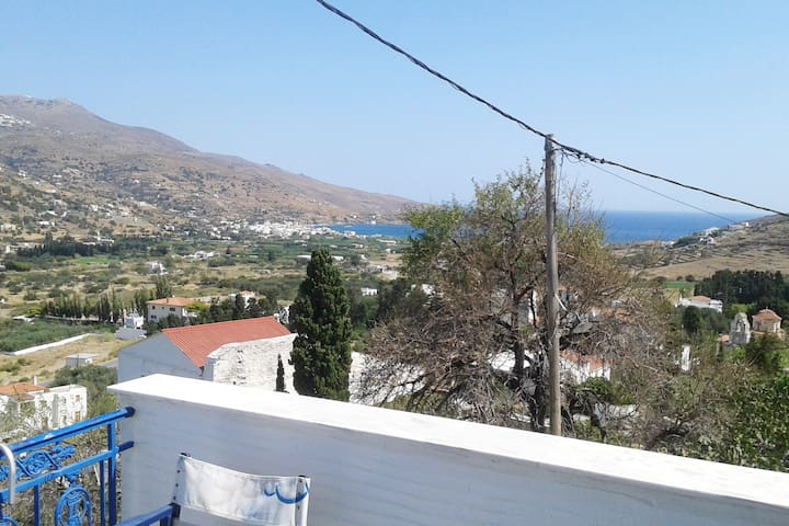 Majestic View of Korthi Bay from first bedroom's balcony