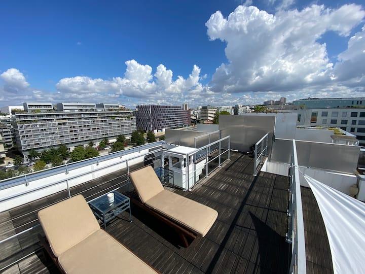 Penthouse - 80 M2 de terrasse à Boulogne
