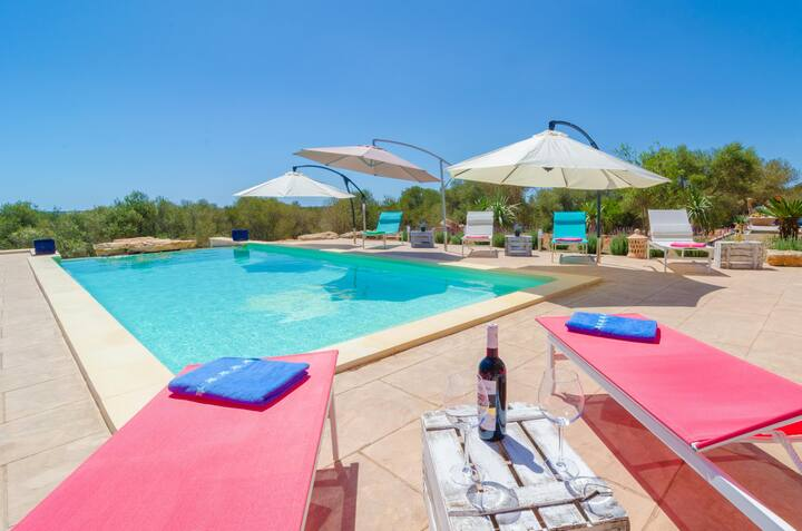 CAN XESQUET - Villa with private pool in Ses Salines. Free WiFi