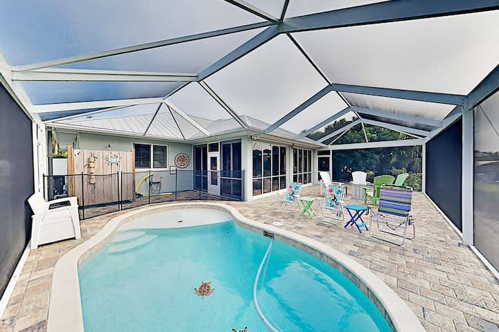 Bokeelia Canal Home with Private Pool & Boat Dock