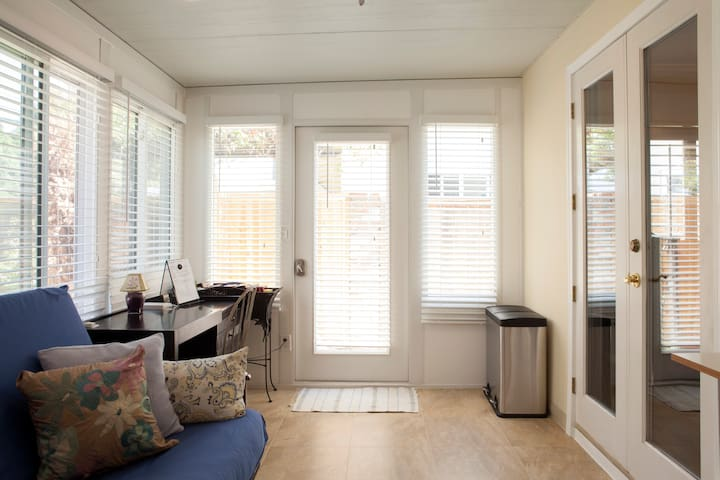 Newly  built sun room is exclusively available to the renter.
