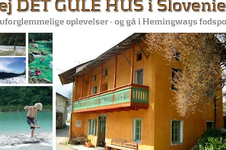 Det Gule Hus - 180 km fra Venedig - Kamno - บ้าน