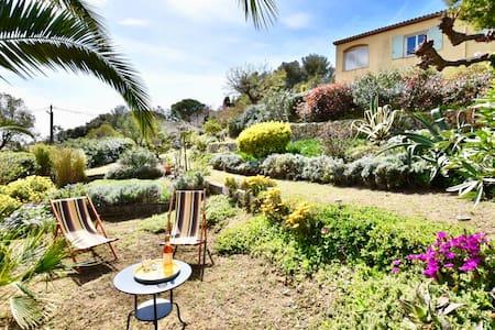 Superb ground floor of villa, terrace, garden.