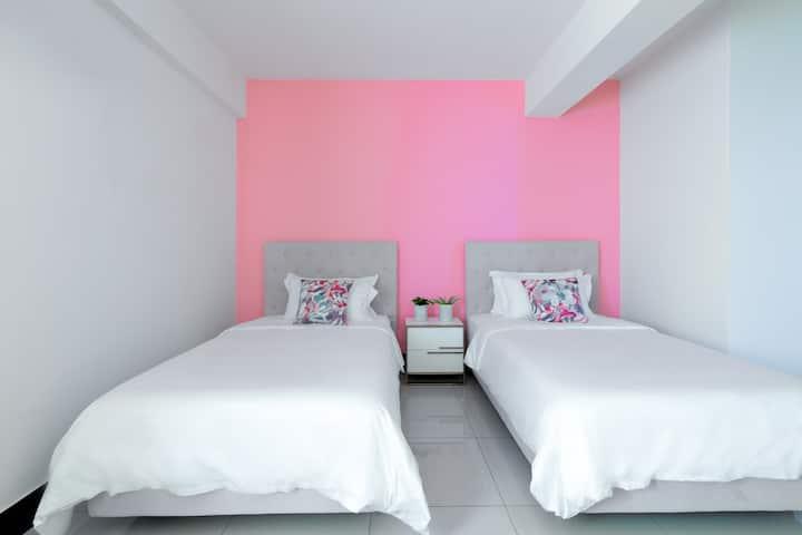 【林居民宿】4人2張單人床和兒童雙層床-雅房A302 金門近昇恆昌、太湖,可租汽機車