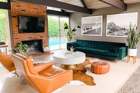 EICHLER ORANGE - Family-Friendly, Pool + Hot Tub