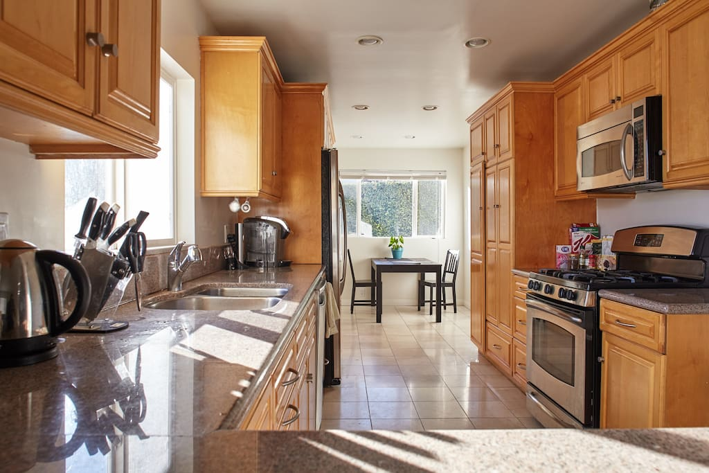 Feel free to use our kitchen and new appliances