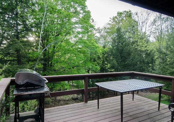 Deck perfect for summer grilling