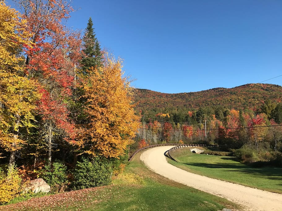 Standing on our deck looking at the beautiful fall foliage