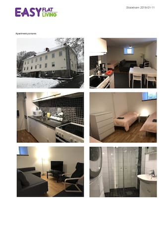 Göteborg: Two room apartment with 4 beds