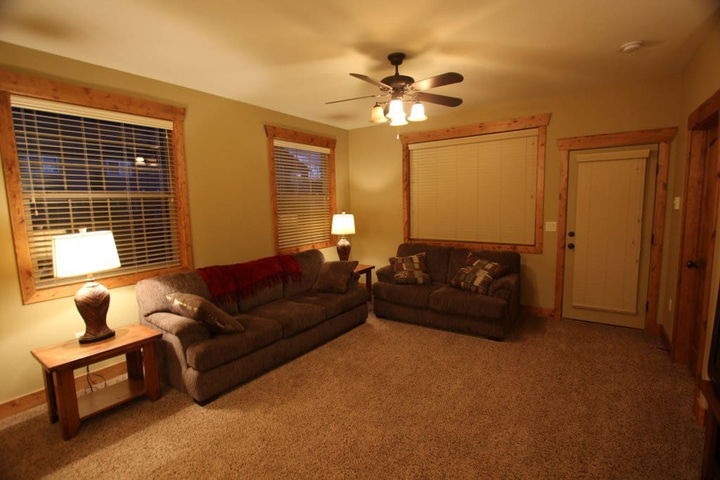 Living Room with flat screen t.v. and dish network.