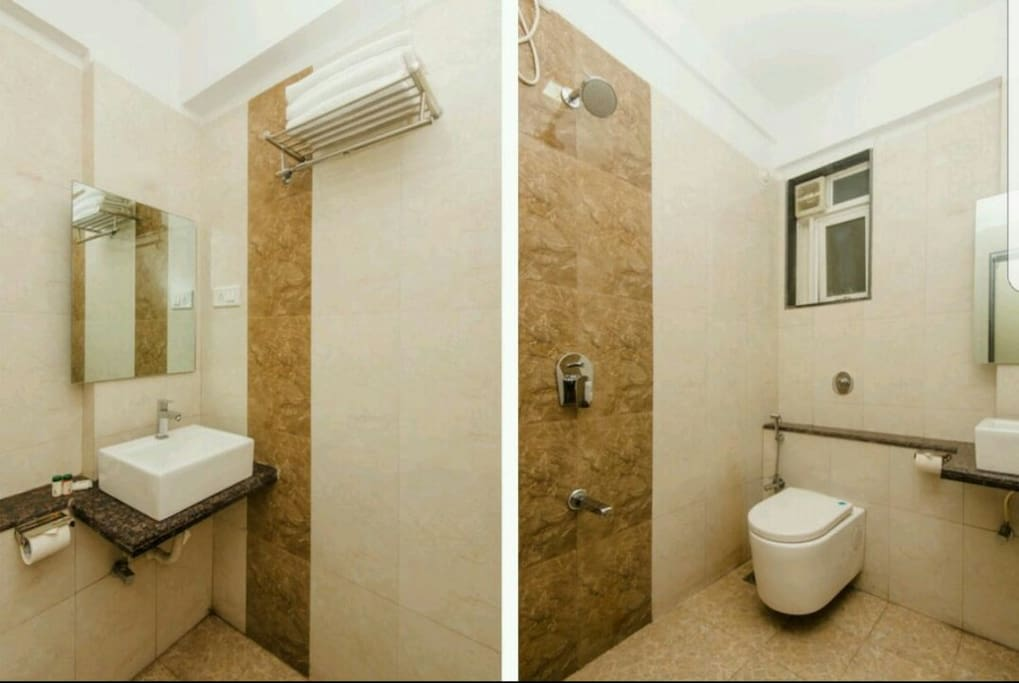Shared washroom with another room