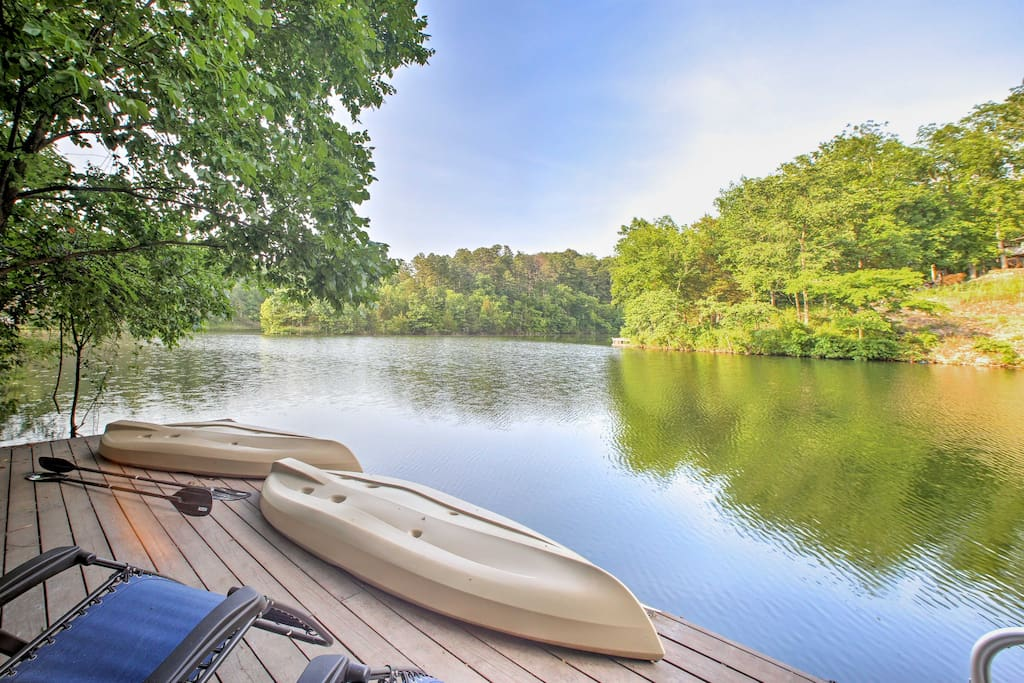Swim with ease from the private dock in a quiet cove.