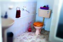 A medium sized shower room.