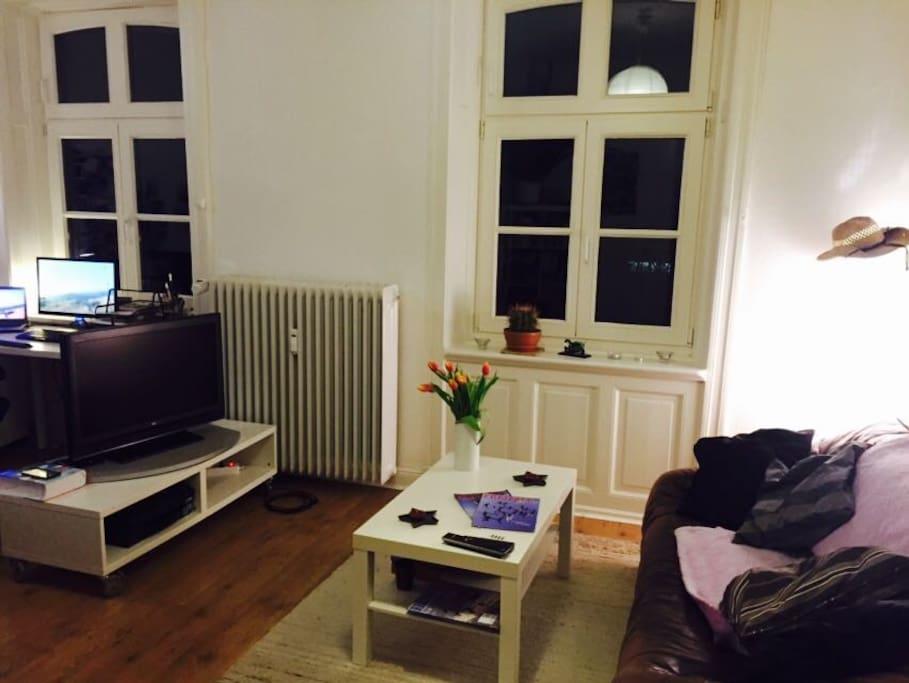 combined bedroom / living room
