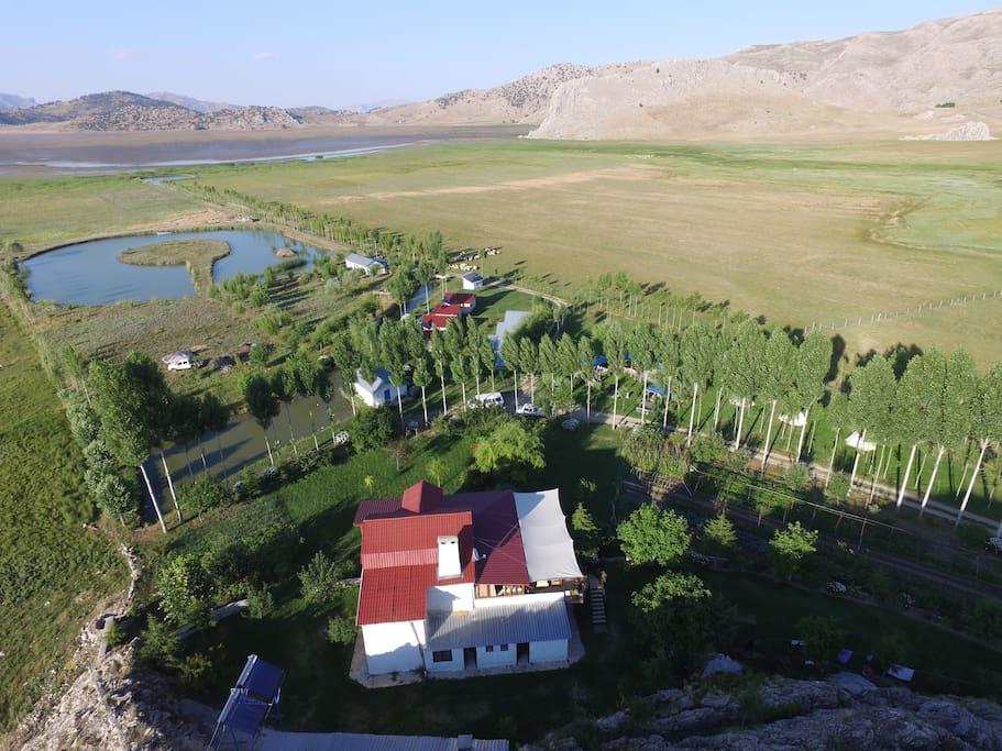 Ariel view of Girdev Camp
