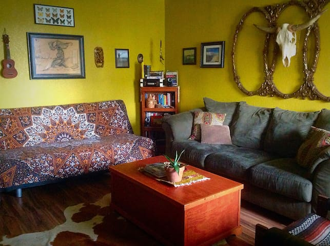 Sofa bed and couch in living room or 2nd bedroom