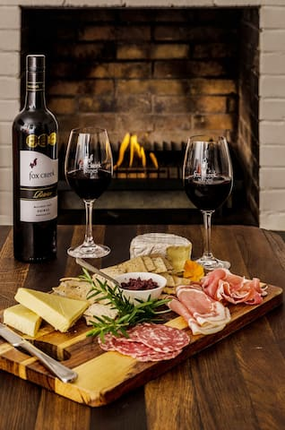 Cosy Winter platter at Fox Creek Winery minutes away.