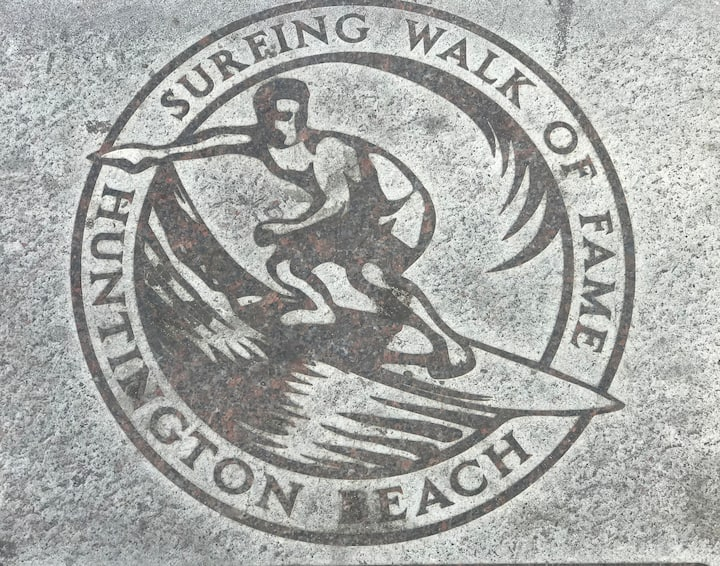 Surf Walk of Fame downtown HB