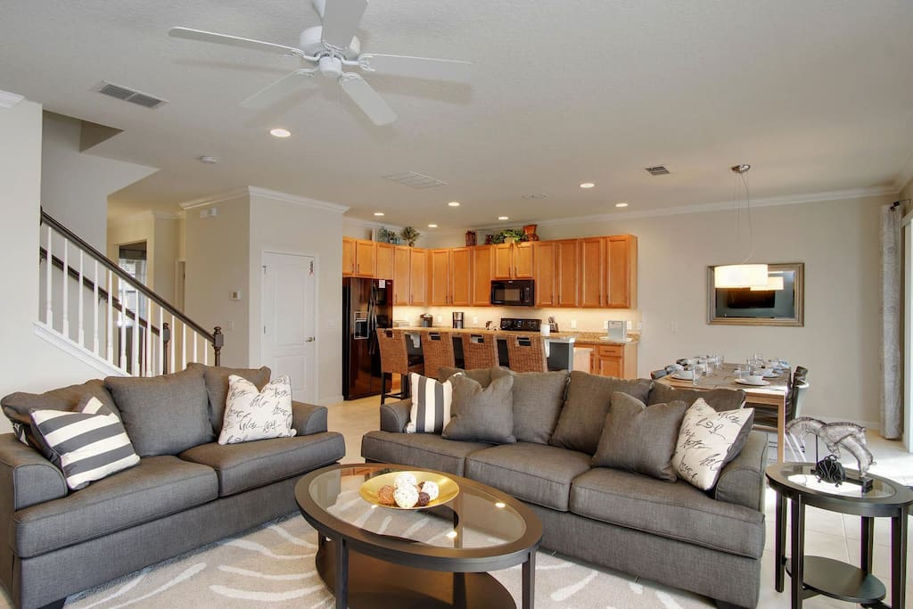 View of living and kitchen spaces!